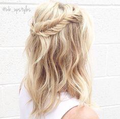 Half up half down hairstyles. Fishtail braid #wb_upstyles