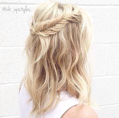 Half up half down hairstyles. Fishtail braid #wb_upstyles