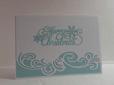 Christmas card for 2015 using Sue Wilson's Merry Christmas die and Gemini - Lyra die.