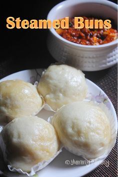 Super spongy steamed buns which is a chinese steamed buns recipe goes well with any curries or on its own with a cup of coffee or tea. Vegetarian Chinese Recipes, Indian Food Recipes, Gourmet Recipes, Asian Recipes, Dessert Recipes, Cooking Recipes, Easy Recipes, Healthy Recipes, Chinese Steam Bun Recipe