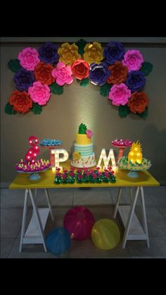 Aniversário Tropical #mariepatyfazem26 #tropical #flamingo #bff