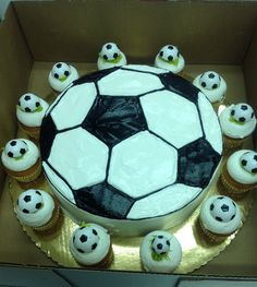 Calumet Bakery  Soccer Drawing with Surrounding soccer cupcakes