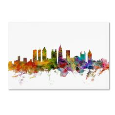 Michael Tompsett 'Atlanta Georgia Skyline' Canvas Art