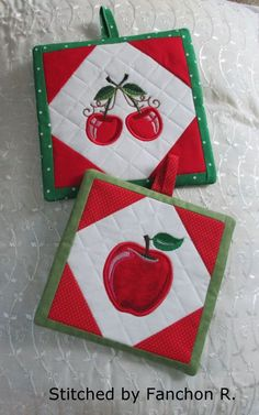 Fruit Themed Hotpads for XL hoops - Oma's Place