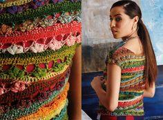 Chorrilho de ideias camisola crochet