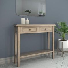 With a depth of only its narrow design takes up little floor space, making it the perfect finishing touch for any hallway. Storage solution – Two drawers and an exposed lower shelf for hallway essentials. Rustic Hallway Table, Entry Hallway, Entryway Tables, Narrow Console Table, Wooden Console Table, Low Shelves, Shelf, Storage Spaces, Hallway Storage