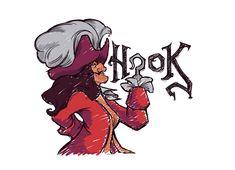Check out the design Good Form by Karen Hallion available on on Threadless Disney Love, Disney Art, Disney Pixar, Hook Tattoos, Twisted Disney, Disney World Parks, Pirate Life, Art Challenge, Disney Villains