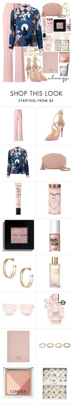 """🎀"" by fashioneex ❤ liked on Polyvore featuring Rochas, Christian Louboutin, Paul & Joe Sister, MICHAEL Michael Kors, NARS Cosmetics, Harrods, Bobbi Brown Cosmetics, Benefit, ASOS and Estée Lauder"