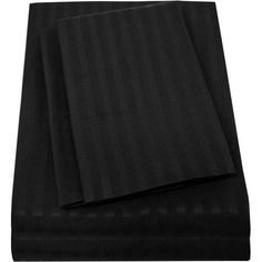 Sweet Home Collection Luxury Double Brushed Dobby Striped 4-Piece Sheet Set, Black