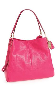 Pink leather should bag | Coach