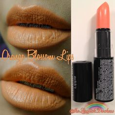 Orange Blossom Lips Nyx Macaron, Macarons, Nyx Lipstick, Orange Lips, Orange Blossom, Nyx Cosmetics, B & B, Swatch, Makeup
