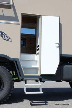 Camper Steps, Off Road Camper, Diy Camper, Truck Camper, Camper Trailers, Campers, Overland Truck, Overland Trailer, Expedition Vehicle