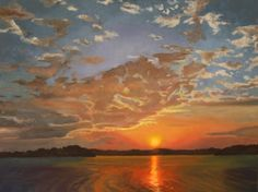 Lake Sunrise First Light 23, painting by artist L C Neill, maybe someone should paint this.