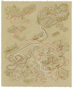 Indiana Jones Trilogy as Maps - Neatorama
