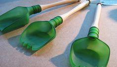 Utensilios de cocina fabricados con botellas de cristal recicladas