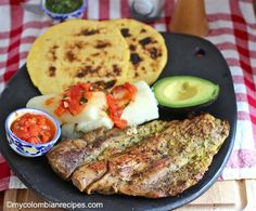 Asado Huilense (Huilense-Style Roast) Columbian food recipes available at this site - available in original language or English. My Colombian Recipes, Cuban Recipes, Colombian Cuisine, Comida Latina, Columbia Food, Columbian Recipes, My Favorite Food, Favorite Recipes, Dominican Food
