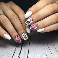 Nail Designs and Ideas 2019 Any lady who cares about how she looks thinks what manicure will best fit the chosen outfit and what types of nails are in the trend at a time. Nail Swag, New Nail Art Design, Nail Art Designs, Beautiful Nail Designs, Colorful Nail Designs, Matte Acrylic Nails, Moon Manicure, Nails First, Minimalist Nails