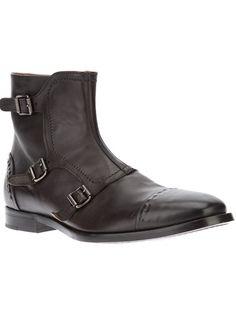 Brown boot from Alexander McQueen