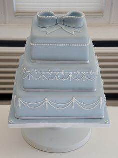 Carolina blue bow cake
