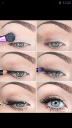 Make-up for green eyes. It says that it's for a date but I think it's quite natural and would be nice for any occasion
