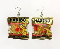 Horrible... Mini Gummy Bear Bag Dangle Earrings. $9.99, via Etsy.