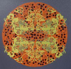 predatory thicket screenprint botanical flowers line drawing papercut