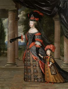 """""""Maria Teresa de Austria y el Gran Delfín de Francia"""", Henri Beaubrun y Charles Beaubrun (ca.1664)"""