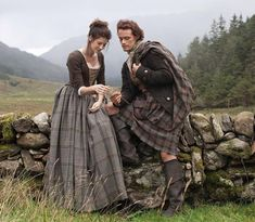 Beautiful shot of Jamie & Claire for the upcoming OUTLANDER SERIES airing this Spring on STARZ