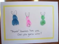 Fingerprint Easter Cards