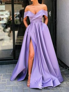 Prom Dresses Long Pink, Prom Dresses With Pockets, Formal Evening Dresses, Formal Gowns, Homecoming Dresses, Bridesmaid Dresses, Purple Formal Dresses, Purple Dress, Evening Gowns