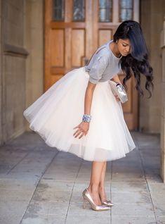 I love this tulle tutu skirt!