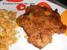 Recept Řízek Zdeňka Trošky - Naše Dobroty na každý den Meat, Chicken, Food, Meal, Eten, Meals, Buffalo Chicken, Cubs