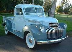 Blue truck--1945 Chevy
