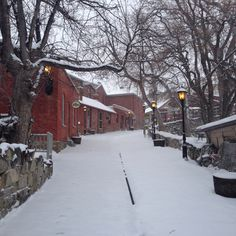 Historic Reeder's Alley in the Winter. Helena, Montana.