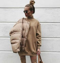 Oversize blouse and bomber - LadyStyle