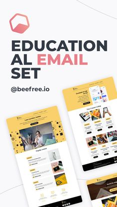 The back-to-school season looks a little different this year for many students. But one thing hasn't changed: You still need to design eye-catching emails to communicate with students and parents. ✏️  Use our set of educational email templates to help. With five emails available - like an Enrollment Confirmation template, Online School presentation and more - this set of messages meets all of your back-to-school needs. ✔️   Designed by Regina Tagirova Html Email Templates, School Template, Bee Free, Website Designs, Email Campaign, Email Design, Confirmation, Back To School, Editorial