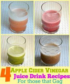 No more gagging! 4 #healthy apple cider vinegar juice drink #recipes