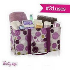 Overnight guests? No problem! Grab a Large Utility Tote and fill it with towels, guest soaps, etc. and your guests will have everything they need.  #31uses www.SoManyCuteBags.com