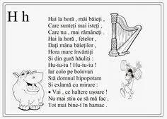 Imagini pentru alfabetul limbii romane pentru copii in versuri Little Einsteins, Printed Pages, School Lessons, Kids Education, Nursery Rhymes, Flower Crafts, Classroom Decor, Preschool Activities, Teaching Kids
