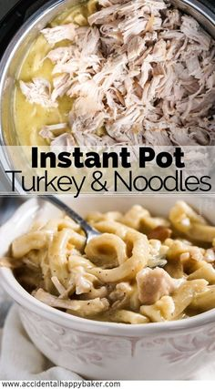 Instant Pot Turkey and Noodles taste like they took all day, but are an easy dump and go dinner in 30 minutes. Instant Pot Turkey and Noodles taste like they took all day, but are an easy dump and go dinner in 30 minutes. Easy Leftover Turkey Recipes, Leftover Turkey Soup, Healthy Turkey Recipes, Leftovers Recipes, Turkey Leftovers, Turkey And Noodles Recipe, Turkey Pasta, Pots, Turkey Casserole