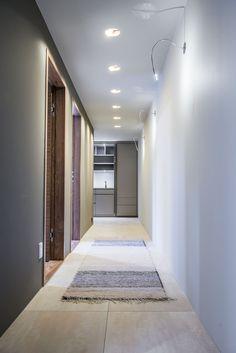 Singelfamily house  Built: 2016 Architect: Marita Hamre  Floor: Terra Maastricht, Mosa tiles Doors: custom design in walnut, Ege dører House Built, Stairs, Doors, Building, Design, Home Decor, Stairway, Decoration Home, Staircases
