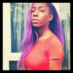 dark skin girls with colored hair - Google Search