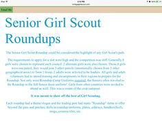 What are The Senior Girl Scout Roundups?