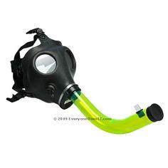 Gas Mask Bong - Acrylic Tube  http://www.coolestbongs.com/product/gas-mask-bong-acrylic-tube/  #cool #bongs #weed #marijuana #cannabis
