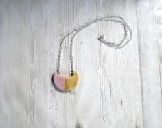 Modern cold porcelain necklace crescent half-moon gold pink jewellery necklace for women pendant necklace birthday gift idea exclusive