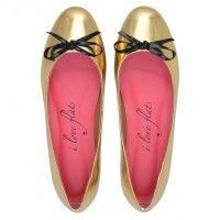 Sapatilha Specchio Ouro Love009OU #sapatilhas #iloveflats #flats #shoes #fashion #metalizado #gold #dourado
