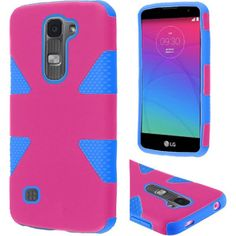 Insten Dynamic Hard PC/ Silicone Hybrid Rubberized Matte Phone Case Cover For LG Escape 2/ Logos/ Spirit 4G