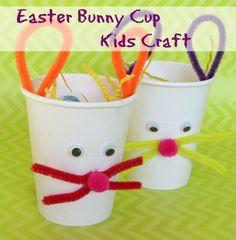 Featured from The Taylor House - Kids Crafts: Easter Bunny Treat Cups