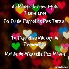 -- #LyricArt for Je mappelle Jane by Jane Birkin