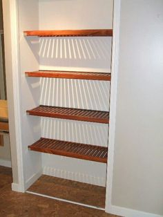 How To Make Wooden Closet Shelves Google Search Diy Pinterest And